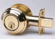 Omnia<br />D0806T - OMNIA SOLID BRASS TRADITIONAL AUXILIARY DEADBOLT