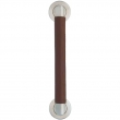 Turnstyle Designs<br />C1610 - Combination Leather, Door Pull, Oval Angle Stitch In