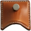 Turnstyle Designs<br />H1948 - Savile Leather, Push button cabinet pull, Small Wave