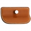 Turnstyle Designs<br />H2011 - Savile Leather, Push button cabinet pull, Large Wing