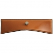 Turnstyle Designs<br />H2221 - Savile Leather, Push button cabinet pull, Large Wave