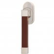 Turnstyle Designs<br />R2527/R2556 - Recess Leather, Tilt and turn window handle, Square Stitch In