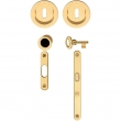 Valli Valli<br />K1201 - K 1201 Trittico Series Solid Brass Keyed Pocket Door Lock