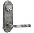 Emtek<br />7011 - Steel #5 Wrought Steel Sideplate 3 5/8&quot; C-to-C Keyed - Passage. Double Keyed