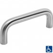 Linnea Stainless Steel<br />111-L - Cabinet Pull Stainless Steel or Brass 112mm