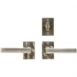 "Rocky Mountain Hardware<br />E153/E153 - Patio Dead Bolt/Spring Latch Set - 2"" x 3"" Edge Escutcheons"