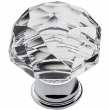 Baldwin<br />4324.260 IN STOCK  - Crystal Knob - Polished Chrome