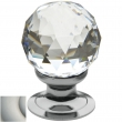 Baldwin<br />4334.150.S IN STOCK - Swarovski Crystal Knob - Satin Nickel