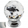Baldwin<br />4336.150.S IN STOCK - Swarovski Crystal Knob - Satin Nickel
