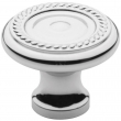 Baldwin<br />4645.260.bin IN STOCK  - Rope Knob - Polished Chrome