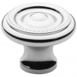 Baldwin<br />4646.260.bin IN STOCK - Rope Knob - Polished Chrome
