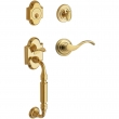 Baldwin<br />85305 RDBL - Canterbury Sectional Double Cylinder RH Entry Handleset with Lever