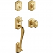 Baldwin<br />85327 DBLC - Bethpage Sectional Double Cylinder Handleset with Interior Knob