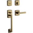 Baldwin<br />85386 RDBL - Soho Sectional Double Cylinder RH Entry Handleset with Lever
