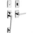 Baldwin<br />85395 RENT - Palm Springs Sectional Single Cylinder RH Entry Handleset with Lever
