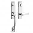 Baldwin<br />85396 LENT - Palm Springs 3/4 Escutcheon Single Cylinder Emergency Egress Tubular Handleset with L024 Lever - Left Hand Entry