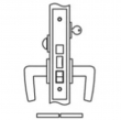 Accurate<br />8848 - Entrance or Apartment Narrow Backset Lock