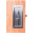 Accurate<br />SL9125PDL - Self-Latching Pocket Door Passage Lockset