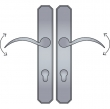 Ashley Norton<br />AGEU4.57 - Angular Profile Cylinder Lever High Multi Point Entry Trim - Configuration 5