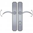 Ashley Norton<br />AGEU4.58 - Angular Profile Cylinder Lever High Multi Point Patio Trim - Configuration 5