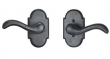"Arched Suite 4 1/4"" x 2 3/8"" Escutcheons - Tubular Passage"