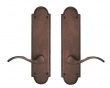 "Arched Suite 10 1/8"" x 2 1/2"" Escutcheons - Tubular Passage"