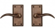 "Rectangular Suite 5 1/8"" x 2 1/2"" Escutcheons - Tubular Passage"