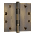 Baldwin<br />1046.I SOLID BRASS HEAVY DUTY - 4.5&quot; x 4.5&quot; BALL BEARING HINGE - STANDARD FINISH