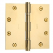 Baldwin<br />1051.I SOLID BRASS HEAVY DUTY - 5&quot; x 5&quot; BALL BEARING HINGE - PREMIUM FINISH
