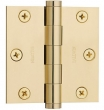 Baldwin<br />3&quot; x 3&quot; Square Corner Thickness .093 Single Hinge - 1030.030.I Polished Brass Door Hinge IN STOCK