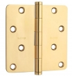 Baldwin<br />4&quot; x 4&quot; 5/8 Radius Corner Thick .093 Single Hinge - 1440.030.I Polished Brass IN STOCK