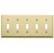 Baldwin<br />4775.030.CD - BEVELED FIVE GANG TOGGLE