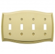Baldwin<br />4782.CD Switchplate - COLONIAL QUAD TOGGLE