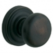 Baldwin<br />5015.190 - CLASSIC KNOB WITH 5048 ESTATE ROSE - Satin Black