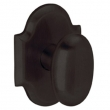 Baldwin<br />5024.402 - OVAL KNOB WITH R030 ARCHED ROSE - Dist. Oil Rubbed Bronze
