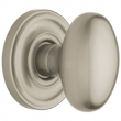 Baldwin<br />5025.150 EGG KNOB WITH 5048 ROSE - SATIN NICKEL - Complete Pre-Configured Set With Knobs, Roses, Latch & 2 1/8 Adapter