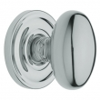 Baldwin<br />5025.260 EGG KNOB W/ 5048 ROSE - POL. CHROME -  Pre-Configured Set With Knobs, Roses, Latch & 2 1/8 Adapter