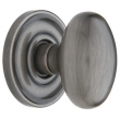 Baldwin<br />5025.452 - EGG KNOB WITH 5048 ESTATE ROSE - DISTRESSED ANTIQUE NICKEL