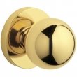 Baldwin<br />5041.003 - CONTEMPORARY KNOB WITH 5046 CONTEMPORARY ROSE - Lifetime Polished Brass