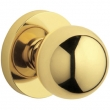 Baldwin<br />5041.031 - CONTEMPORARY KNOB WITH 5046 CONTEMPORARY ROSE - Non-Laqured Brass