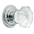 Baldwin<br />5080.260 FILMORE CRYSTAL KNOB W/ 5048 ROSE - Pol.  - Complete Pre-Configured Set With Knobs, Roses, Latch & 2 1/8 Adapter