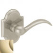 Baldwin<br />5452V.003 - BEAVERTAIL LEVER WITH R030 ARCHED ROSE - Lifetime Polished Brass