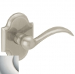 Baldwin<br />5452V.055 - BEAVERTAIL LEVER WITH R030 ARCHED ROSE - Lifetime Polished Nickel