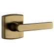 Baldwin<br />5485V.050 - SOHO LEVER WITH R026 SOHO ROSE - Satin Brass &amp; Black