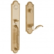 Baldwin<br />6401.034  5 1/2&quot; Center to Center Bore Tubular  - Baldwin DEVONSHIRE ENTRANCE SET - LACQUERED VINTAGE BRASS 6401
