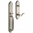 Baldwin<br />6401.151 5.5&quot; Center to Center Bore, Tubular - DEVONSHIRE ENTRANCE SET - ANTIQUE NICKEL 6401
