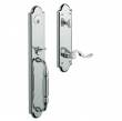 Baldwin<br />6401.260  5.5&quot; Center to Center Bore,  Tubular  - DEVONSHIRE ENTRANCE SET - POLISHED CHROME