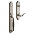 Baldwin<br />6401.452  5.5&quot; Center to Center Bore Tubular - DEVONSHIRE ENTRANCE SET - DISTRESSED ANTIQUE NICKEL 6401