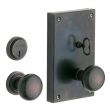 "Baldwin<br />6550 - GEORGETOWN MORTISE ENTRY SET - 4"" X 6 3/4"""