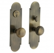 Baldwin<br />6555 - BOSTON MORTISE ENTRY SET - 2 3/4&quot; X 10&quot;